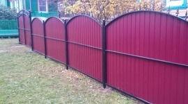Забор из профнастила своими руками.