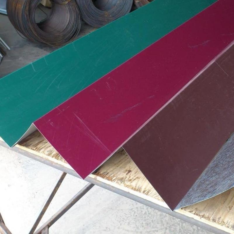 Конек плоский 150х150х2000 все цвета толщина 0,5 мм.